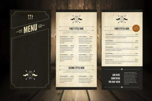 font for the restaurant menu